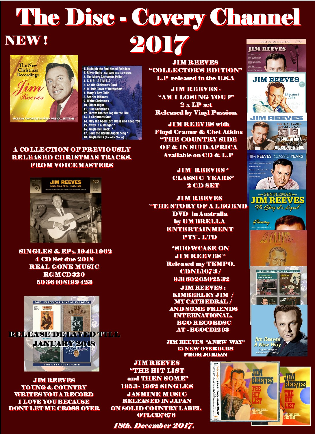 JIM REEVES FAN CLUB WEBSITE